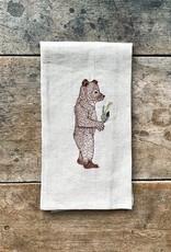 The Birch Store Giving Bear Linen Tea Towel