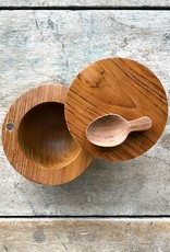 The Birch Store Teak Salt Cellar with Spoon