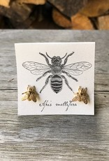 The Birch Store Large Gold Bee Post Earring