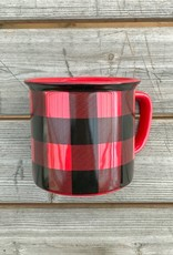 The Birch Store Buffalo Check Mug
