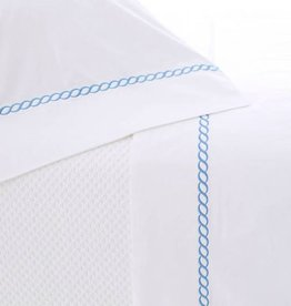 The Birch Store Helix French Blue Queen Sheet Set