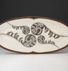The Birch Store Coiled Wood Fern Platter