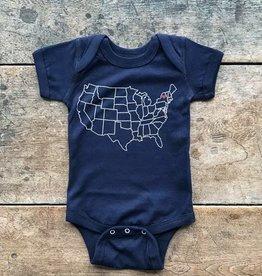 The Birch Store Adirondack Heart Onesie