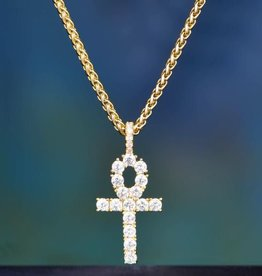 Aporro Iced Out Ankh Necklace