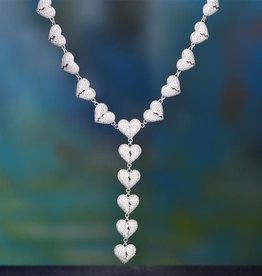 Aporro Iced Out Broken Heart Necklace