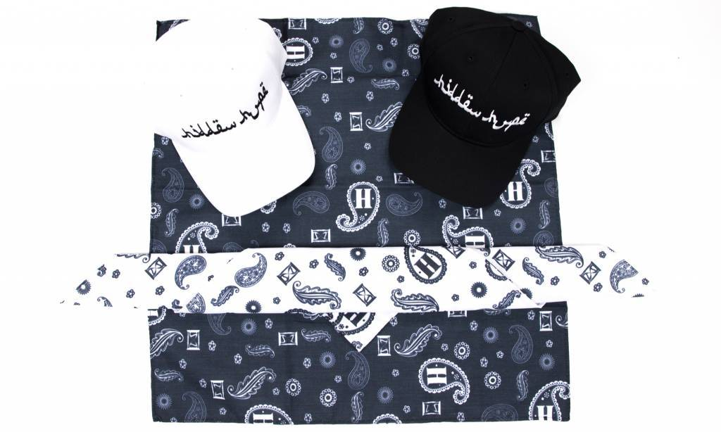 Arabic curved brim velcro dad hats & Paisley bandanas available now