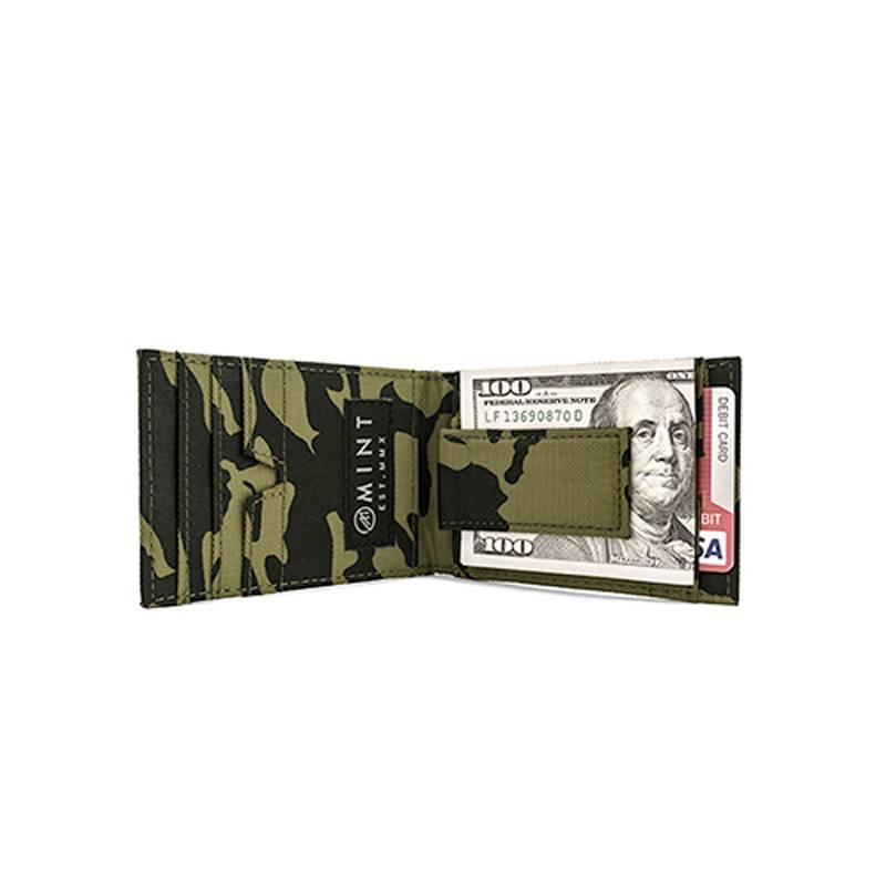 Mint Mint Camo Nylon Money Clip