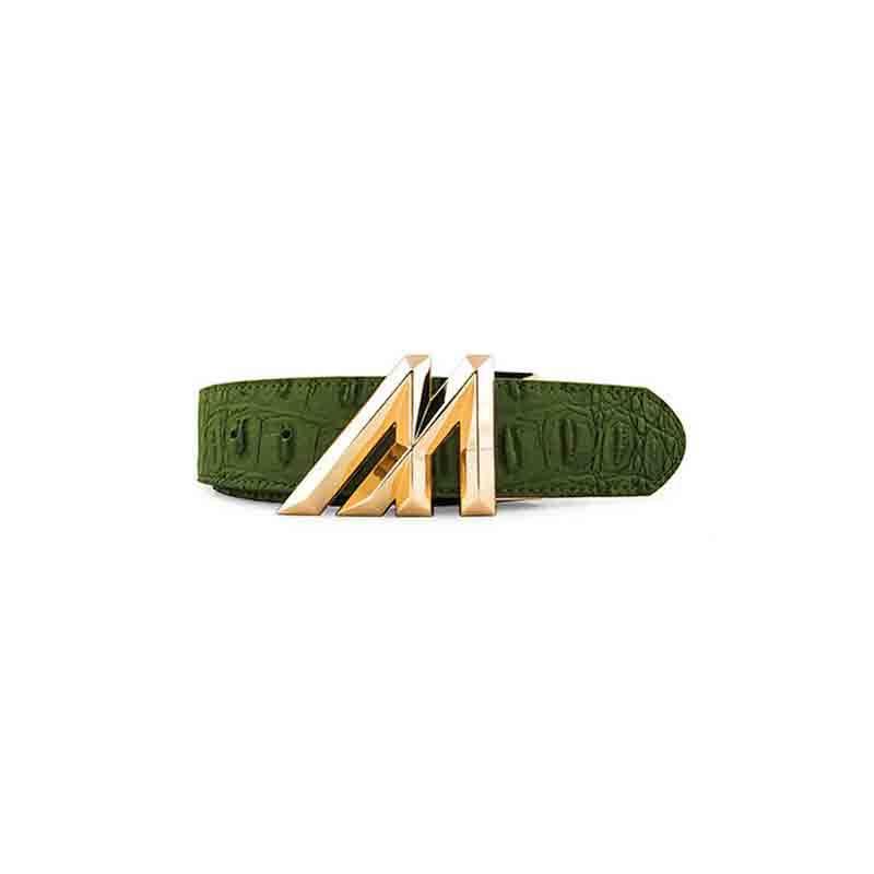Mint Mint Crocodile belt Olive Cut To Fit