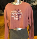 Covet Dance COV Visions of Sugarplums Long Sleeve Crop Tee
