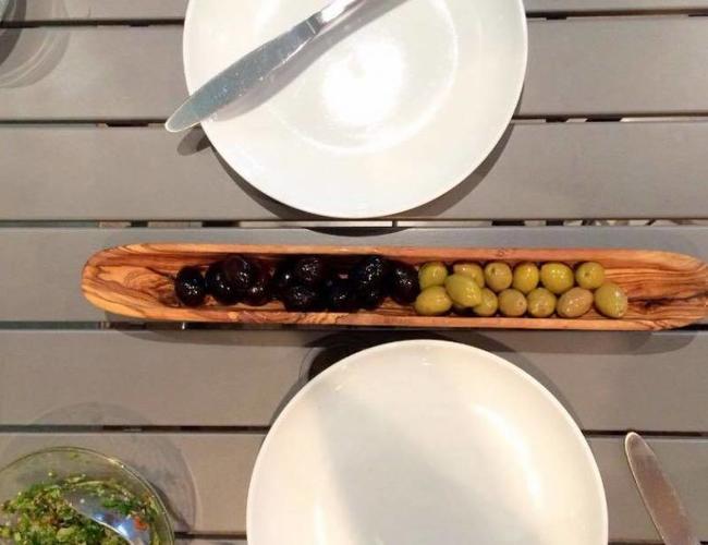 Bois d'olivier Tunisie Bateau Olive Moyen