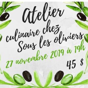 Valérie Desjardins Atelier Culinaire Bouchées pour les fêtes 27 novembre 19h00