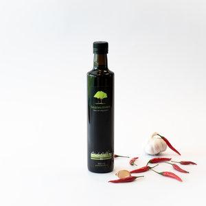 Sous les oliviers Huile d'olive infusée - Ail rôti et chili