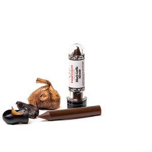 The foodie family Shavings Spices FOOD CRAYON black garlic with sharpener