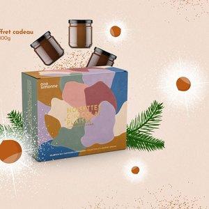 allo Simonne Boite Découverte pate a tartiner a la noisette et au chocolat 6 pots de 100g