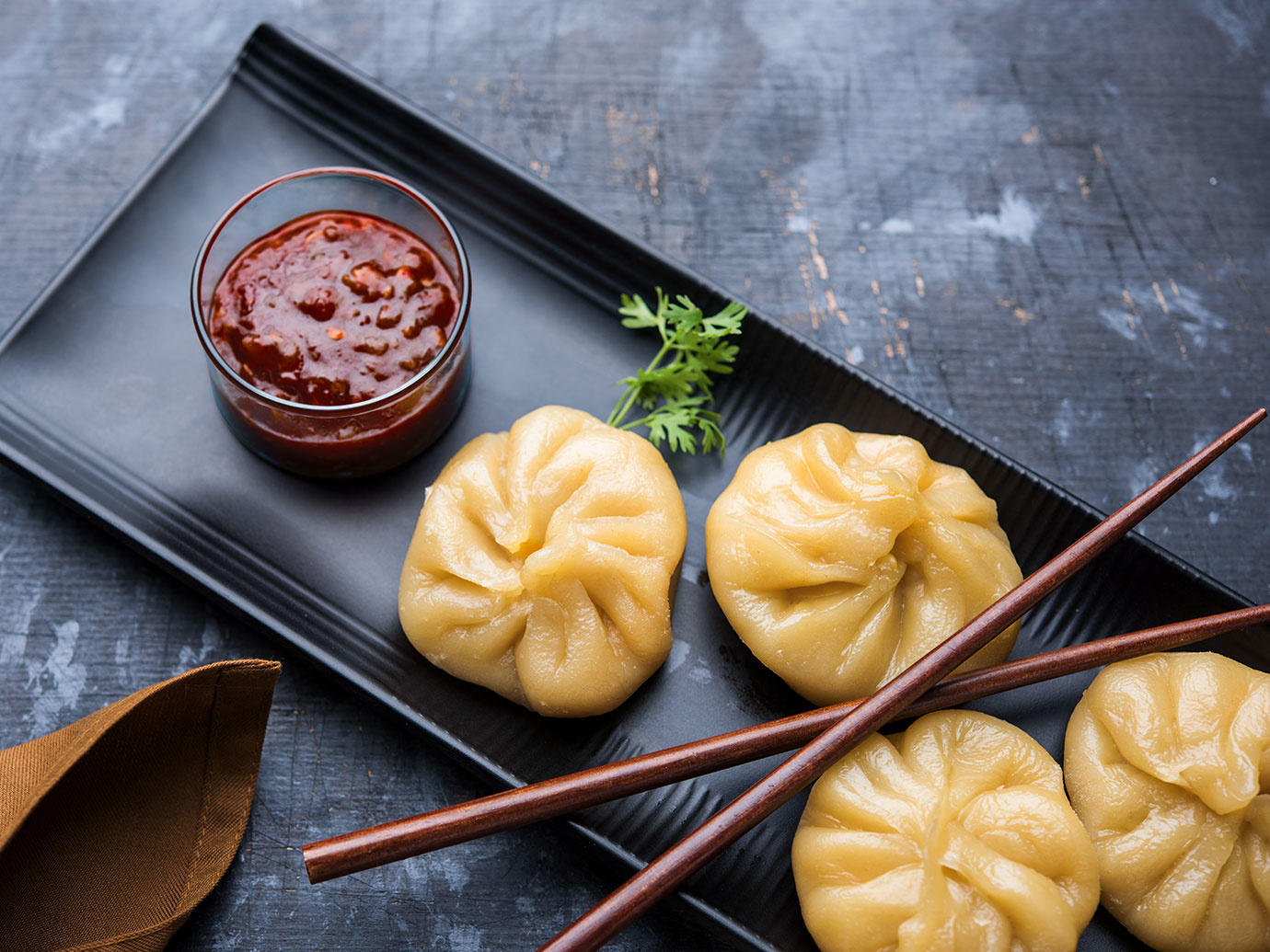 RED CURRRY TURKEY OR CHICKEN DUMPLINGS WITH MAPLE SOY DIPPING SAUCE
