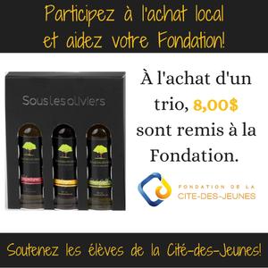Sous les oliviers Coffrets levée de fonds fondation de la Cité-des-Jeunes