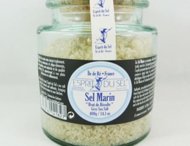 Biochala sel gris bocal verre 400 gr