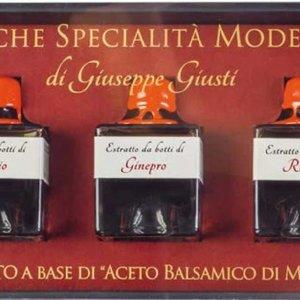 Giuseppe Giusti Balsamique GIUSEPPE GIUSTI boite de 3 X 40ml vieillis dans 3 differents barils