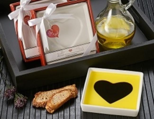 LOVE INFUSED Assiette pour melange huile et balsamique