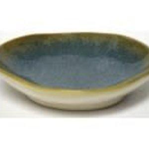 Sous les oliviers Assiette trempette H&V brune et bleu
