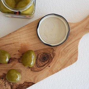 BruniGlass Bois d'olive PLanche avec poignee medium