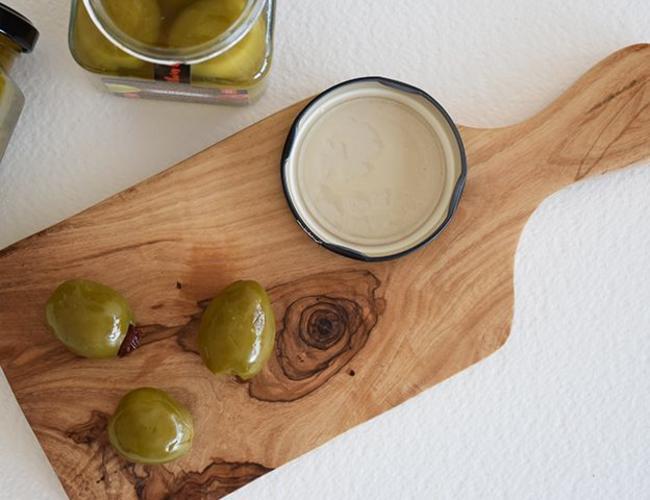 BruniGlass Bois d'olivier Tunisie Planche a coupe epaisse medium 28cm