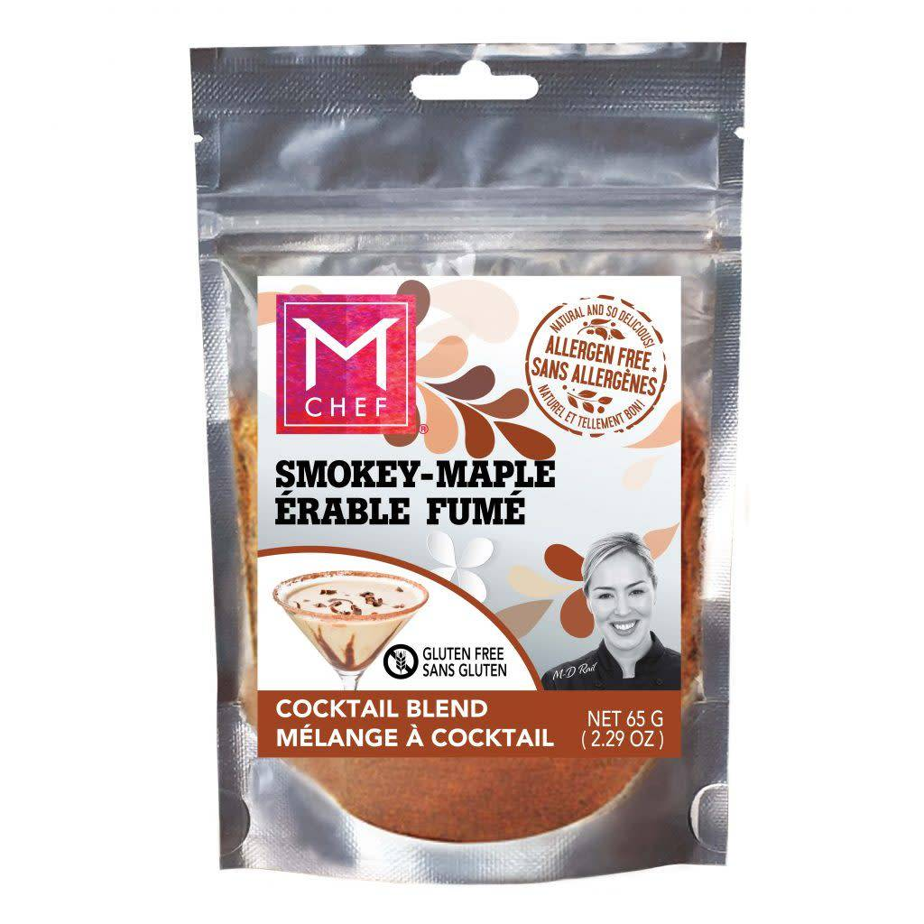 Mchef Melange d'epices multiusage Érable fumé BBQ FUMÉ AU WHISKEY / Bacon (vegan) 54g