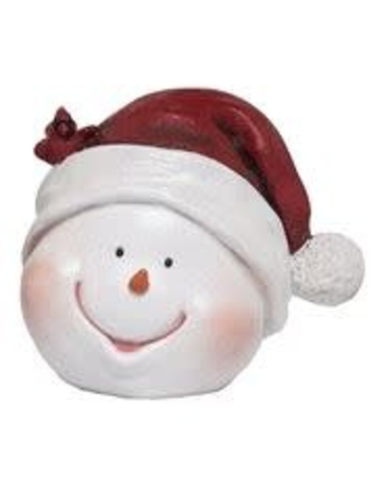 f26a0cd304e3d Merry Snowman Head Fig with Santa Hat - Gifts and More