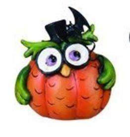 Transpac Halloween Owl - GREEN
