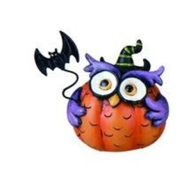 Transpac Halloween Owl - PURPLE