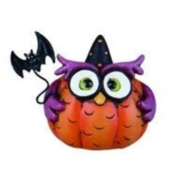 Transpac Halloween Owl - PINK