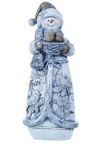 Transpac Glittered Snowman Figure- Faith Expression