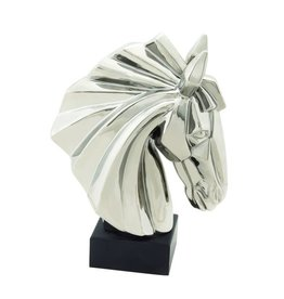 UMA ENTERPRISES INC. Silver Ceramic Horse Head