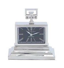UMA ENTERPRISES INC. Metal Nickel Table Clock