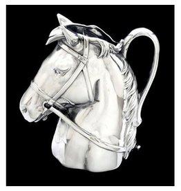 ARTHUR COURT DESIGNS Alum Horse Head Pitcher - 2 1/2 qt