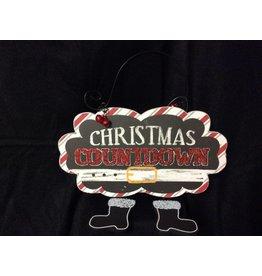 CHRISTMAS COUNTDOWN Santa Feet Sign