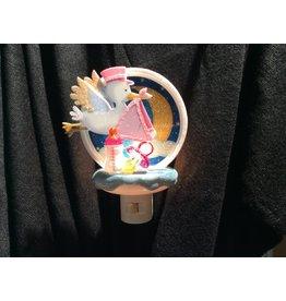 MIDWEST CBK Stork Night Light - Girl