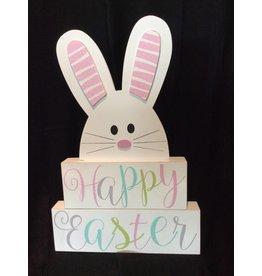 ADAMS & CO. HAPPY EASTER Block Set w/Bunny
