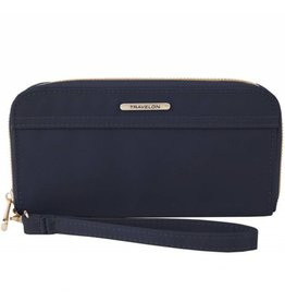 Travelon Single Zip Wallet - blue