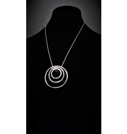 Periwinkle Necklace- Rose and Hematite Circles