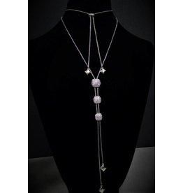 Fossick Imports 3 Square Silver Pendant Necklace