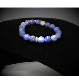 KENZE PANNE JEWELRY BLUE STONE BEAD W/ GOLD BRACELET
