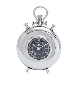 UMA ENTERPRISES INC. Metal Nickel Table Clock