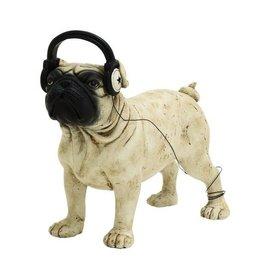 UMA ENTERPRISES INC. Polystone  Dog with Headphones