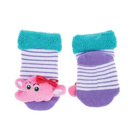 Elephant Rattle Baby Socks