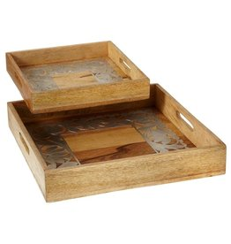 MIDWEST CBK 2PC SILVER INLAY TRAY SET