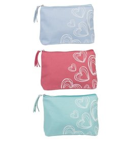 Scribble Hearts Cosmetic Bags