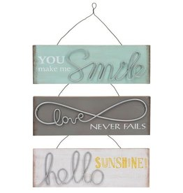 Wire Art Wall Plaques