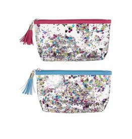 Sparkle Zipper Bag with Tassel