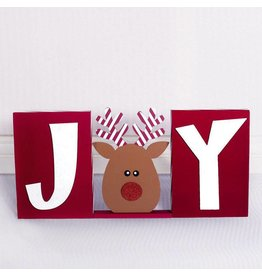 ADAMS & CO. JOY w/Reindeer Block Set